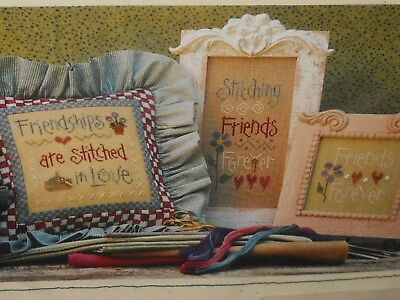 Lizzie Kate ~ Stitching Friends includes Charms ~ Cross Stitch Pattern ~ NIP