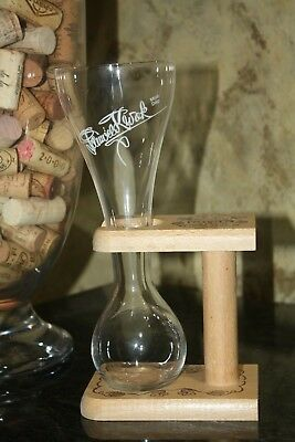 PAUWEL KWAK BELGIUM BEER GLASS W/WOODEN STAND ****BRAND NEW**** FROM BOX 33cl
