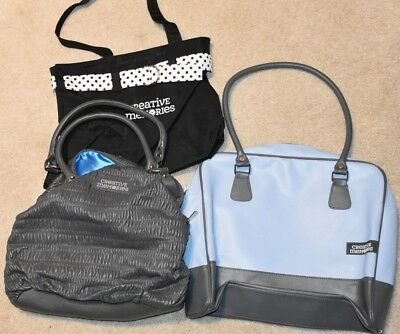 Creative Memories Lot of 3 Purses or Tote Bags. Great for scrapbooking or travel