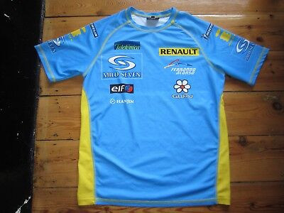 Renault F1 Formula 1 One Team Top Short Sleeve T Shirt Blue Size S Small Hanjin