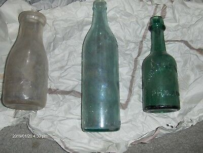 1 McCrudden Campbell &Co. blob top soda bottle, M.C.&CO. Philadelphia, Pa /