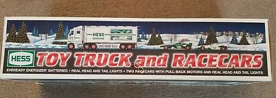 Hess Annual 2003 TOY TRUCK and RACE CARS