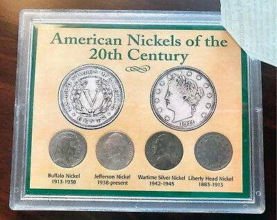 American Nickels of the 20th Century 4 coin set #1605 AHS