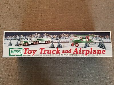 Hess Toy Truck and Airplane 2002 Hess Toy Truck NEW in BOX not tested