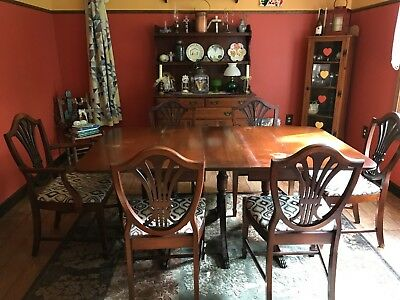 Antique Dining Room Table and Chairs from The Jake Tennenbaun Co.,Ohio-Est.1886