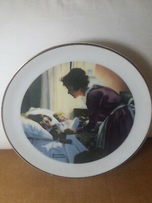 """""""A mothers love"""" Porcelain Plate by Norman Rockwell Special Edition"""