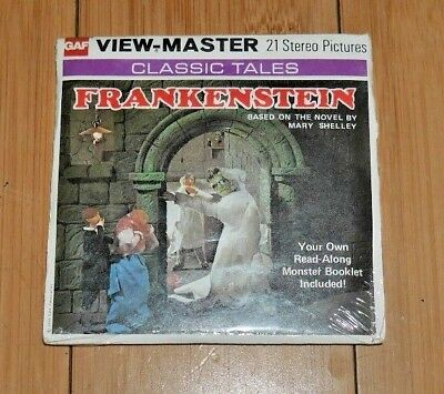 * Sealed Mint * Frankenstein Mary Shelley Viewmaster Reels B323 1976 Rare   B147
