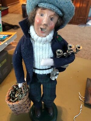1998 Byers Choice Caroler Christmas Candle Maker Seller Man With Basket Of Wares