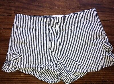 Crewcuts Girls Sz 7 Blue And White Striped Shorts