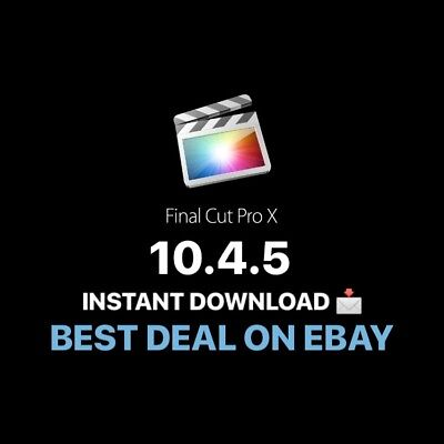 2019 Final Cut Pro X 10.4.5 Instant Download/ Unlimited license 🤩[NEW]