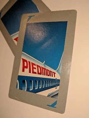 Vintage Piedmont Airline Playing Cards, Bridge Size in box, 4 cards missing