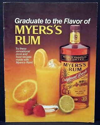 MYERS'S RUM - GRADUATE TO THE FLAVOR BOOKLET - Vintage Recipes - MYERS