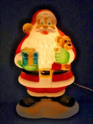 "Vintage Santa Clause Lighted Blow Mold ~ 17,1/2"" Tall"
