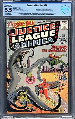 Brave & The Bold 28 CBCS 5.5 app FN-  DC 1960 1st Justice League of America