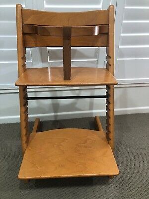 Stokke Tripp Trapp Baby High Chair Beech (Natural) Used Great Condition.