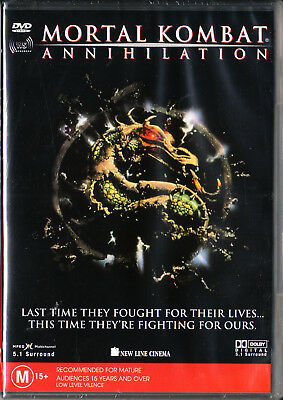Mortal Combat - Annihilation Dvd=Robin Shou=Region 4 Aust Release=New And Sealed