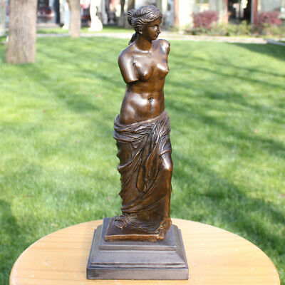 Art Deco handmade Sculpture Venus Bronze Copper Statue