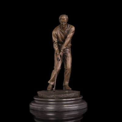 Man Golf  Art  Deco handmade Sculpture Bronze Copper Statue