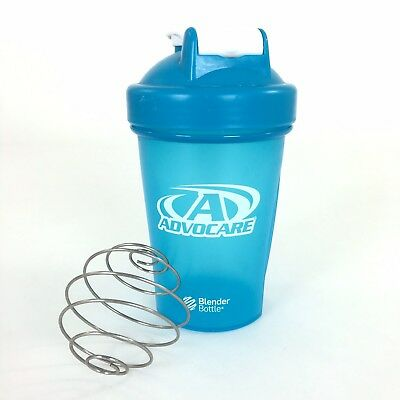 Advocare Blender Shake Bottle 12 Oz Mixer Turquoise Plastic