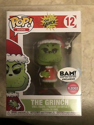 The Grinch Flocked BAM Exclusive #12 Funko  Pop! Books Vinyl Figure