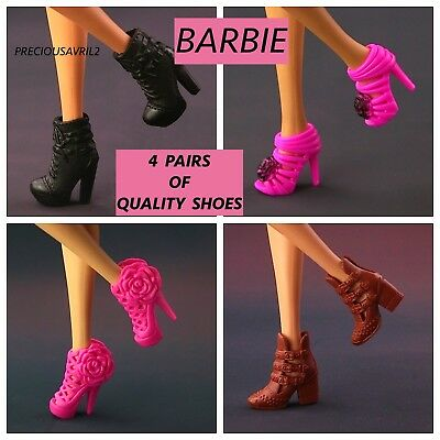 New 4 sets of Quality Barbie doll shoes QUALITY SHOES.