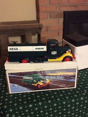 1985 First Hess Truck Toy Bank in the Original Box