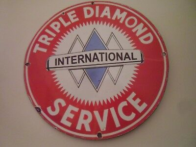 Triple Diamond Service porcelain sign