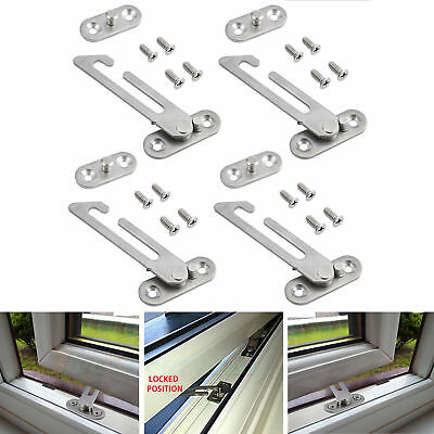 2/4 UPVC Window Restrictor Hook Child Lock Restrictor Safety Catch Baby Security