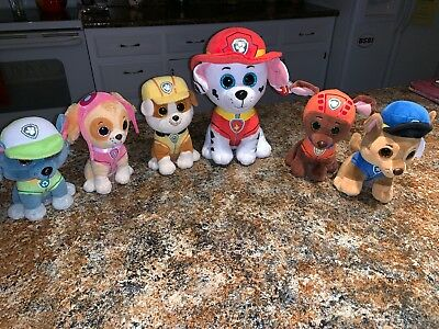 TEENY TY S BEANIE Boos Stackable Plush Paw Patrol SET OF 6 Rocky ... 63b042a18dce