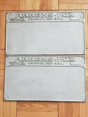 Ahrens Fox Fire Engine Step Plates  All Original Aluminum