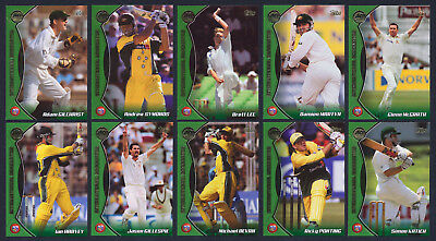 2001 / 2002  Topps ACB Gold Set of 10 Cricket Box Cards