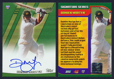 Damien Martyn AUTHENTIC SIGNATURE 2001 / 2002  Topps ACB Gold Cricket Card