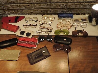 Vintage Lot 15 Reading Glasses Eyeglasses Plastic Readers Safety Motorcycle