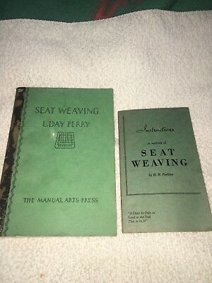 LOT OF 2 VINTAGE SEAT WEAVING BOOKS MANUALS 5 H H PERKINS and 1 L. DAY PERRY