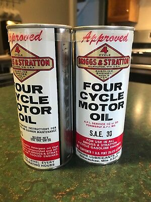 Vintage Briggs And Stratton Oil Can Sealed Four Pack