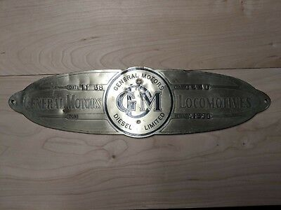 Canadian National #1329 SW1200RS, class GR-12r Brass alloy Builders plate