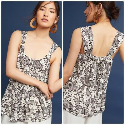 e9282ad04988 Anthropologie Vanessa Virginia Size Large Loan Floral Tank Top Brown