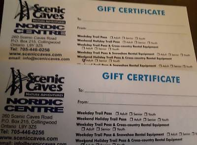 Scenic Caves Trail & Cross Country Equip Rental Certificates! $88 Value!