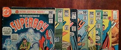 Dc Comics The New Adventures of Superboy lot of (9) Gd readers, nice fillers