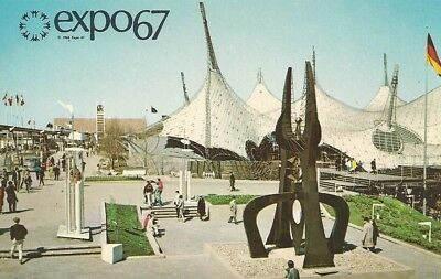 Expo 67 Montreal, Canada, Pavilion of Federal Republic of Germany Vtg. Postcard