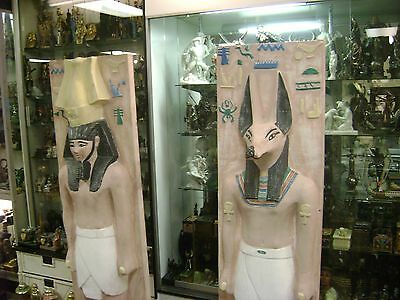 Vintage Large Egyptian God Anubis Statue Hand Made 1977 Made in Egypt