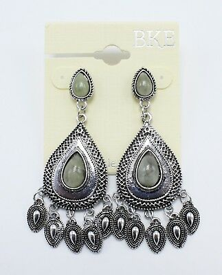 New Pair of Beautiful Silver Drop Earrings by Buckle #E1072