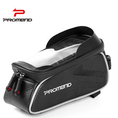 PROMEND MTB Bicycle Waterproof 6.2'' Touchscreen Bike Front Tube Bags Phone Case