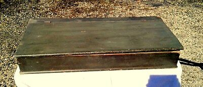 Antique Primitive DRY SINK TOP with Zinc Lining Painted Dovetailed Case 1830 ERA