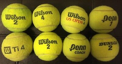 Lot Of 8 Used Misc Tennis Balls Great For Dogs, Toys, Chairs, Walkers & Children