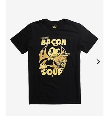 Bendy And The Ink Machine Bacon Soup T-Shirt Hot Topic Exclusive Xl