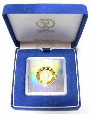 Japan Gold Coin 2002 FIFA World Cup Commemorative ¥10,000 Gold,15.6g, 24K, Rare
