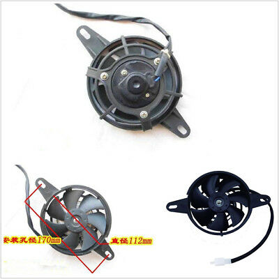 Motorcycle ATV Electric Radiator Thermal Cooling Fan Oil Cooler Water Fan US