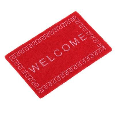 Doll House Miniature carpet WELCOME Mat Dollhouse Accessories Home & Living 1 H8