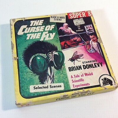 """Vintage 8mm Super 8 Sound B & W Movie """"The Curse of The Fly"""""""